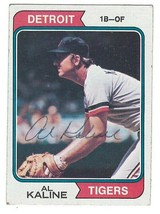 Al Kaline Signed 1974 Topps Card / Autographed Tigers - $21.33