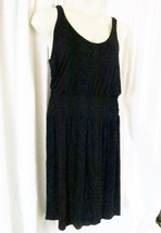 J Crew Dress L Black Sleeveless Midi Rayon Blend Solid - $19.60