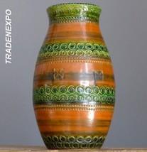 Vintage 60-70's DUMLER & BREIDEN 113-20 Vase West German Pottery Fat Lav... - $24.74