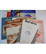 VTG LOT OF 13 MID CENTURY SHEET MUSIC SONGS LYRICS COLLECTIBLE COLLECTION - $38.61