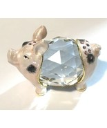 Rucinni  Bejeweled Enamel Pig Mini Glass Collectible Crystal - $28.59