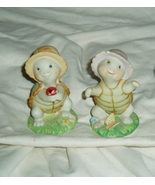 Homco Small Playful Turtle Pair 8877 Home Interiors - $8.00