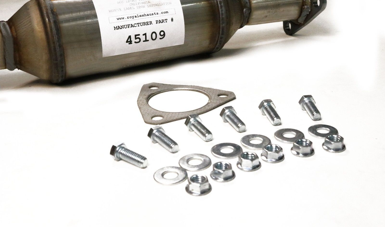 LX Coupe /& Sedan EX Direct Fit with Gaskets /& Bolts Included Flex Pipe Replacement for 2003-2007 Honda Accord 2.4L DX