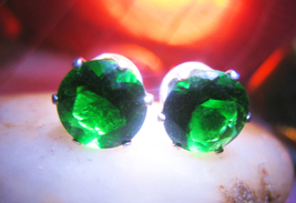 Haunted FREEBIE 3X MONEY TREE WEALTH BUSINESS MAGICK 925 EARRINGS CASSIA4 - $0.00