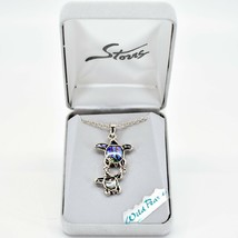 A.T. Storrs Wild Pearle Abalone Shell Sea Turtles Pendant & Silver Tone Necklace