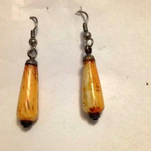 Vintage Brown/Ivory-Colored Dangling Earrings - $23.00