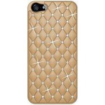 Amzer Diamond Lattice Snap On Shell Case for iPhone 5 5S - Khaki - $9.39