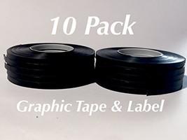 Tape Black Matte 10 Pack 1/8'' 3 mm Chart Tape/Whiteboard Gridding Tape/... - $10.63