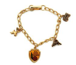 Vintage California charm bracelet  Muir woods deer golden gate bridge cable car - $14.95