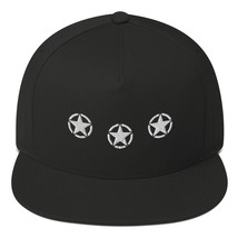3 Star Flat Bill Cap - $19.50