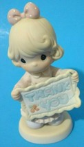 Vintage 90s Precious Moments Thank You Sew Much Figurine Blonde Girl Pin... - $9.47
