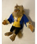 "Vintage 1992 Disney 14"" Beauty And The Beast Plush Stuffed Doll Display ... - $11.00"