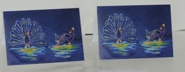 Painted Trees Peacocks Frameable 5X7 Christmas Card 3 Designs Package 6 image 2