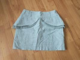 grey peplum skirt mini size 10 primark atmosphere - $9.90