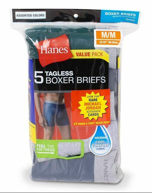 6-Pack Hanes Michael Jordan Collector's Edition Boxer Briefs - Assorted - S-XL
