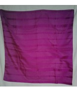 Large Fuchsia Scarf Vintage Made in Italy 30 Square Polyester Rolled Edg... - $17.99