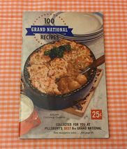 Vintage 1957 Pillsbury 100 Grand National Recipes cookbook small cook book - $5.00