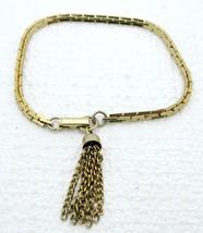 Vtg Sarah Co Ventry Gold Tone Tassel Bracelet - $19.80