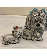 Vintage Ceramic Poodle Figurine. Mother& puppy - $14.85