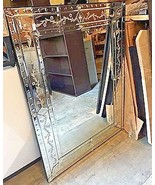 NEW Horchow LARGE French VENETIAN Mirror Wall Vanity Buffet Engraved - $444.51