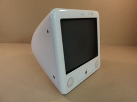 Apple eMac PowerPC G4 17in 1GHz PowerMac White 80GB Hard Drive A1002 EMC... - $79.09