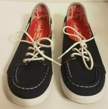 Keds Womens Nautical Boat Shoe Navy Blue Size 7 Lace Up Canvas - $13.58