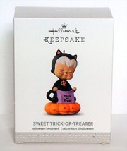 2016 Hallmark Sweet Trick or Treater Halloween Ornament Mary's Angels Bl... - $14.90