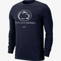 Penn St. Nittany Lions Mens Nike Football Icon Wordmark L/S T-Shirt - XX... - $26.03