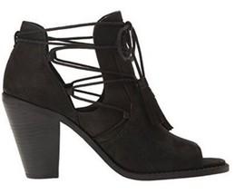 Women's Jessica Simpson CERI Peeptoe Bootie Sandals Heels Tassel Suede B... - $67.49