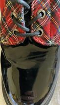 Demonia US 12 women PLaid Combat Style Boots, Women Vegan Lthr Alt Goth ... - $59.09