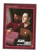Star Trek The Next Generation card #280 Jonthan Frakes William Riker and Data Br - $4.00