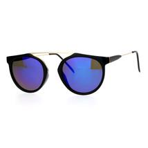 Arched Bridge Top Round Aviator Sunglasses Unique Fashion Mirror Lens - $10.95