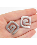 SILPADA 925 Silver - Vintage Shiny Smooth Spiral Designed Drop Earrings ... - $33.78