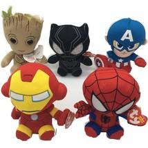 DC Marvel Plush Toys Avengers Superhero Plush Dolls Captain America Iron... - $10.39