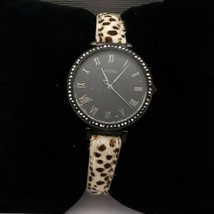 Fossil Women's Kinsey Faux Cheetah Hair Leather Watch New - $55.85