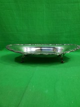 Vintage Sheridan Silver on Copper Footed Dish ~ Ornate ~ Plate ~ Bowl ~ ... - $23.33