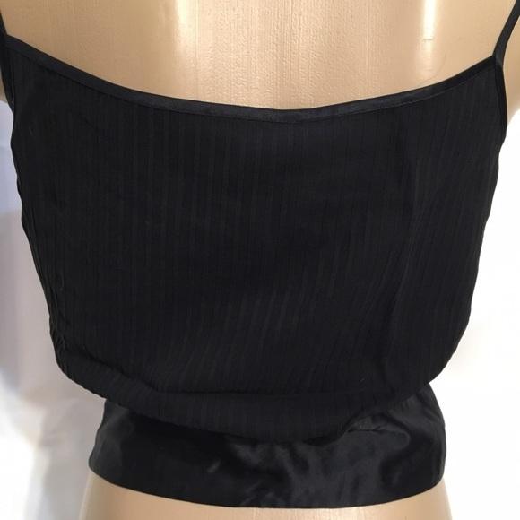 Banana Republic Black silk sleeveless tank shell top Small S NEW