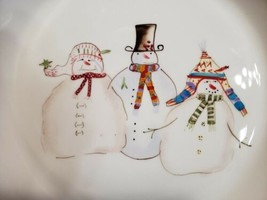 "Sakura Snowmates 10.25"" Stoneware Pie/Bake Dish by Debbie Taylor-Kerman ... - $12.86"