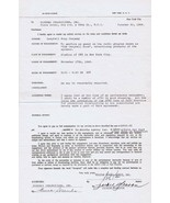 Honeymooners Jackie Gleason ORIGINAL Signed 1946 Contract for The Campbe... - $692.99
