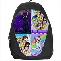 backpack school bag sailor moon luna artemis cas - $39.79
