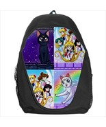 backpack school bag sailor moon luna artemis cas - $39.79