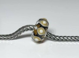 Authentic Trollbeads Unique OOAK Bead  cool design charm LAA Stamped New!! - $33.44