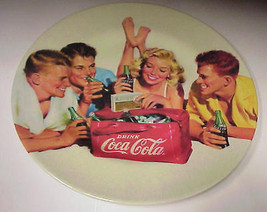 "Coca-Cola Beach Teen Party  8.5"" Melamine 2002 Reto Collector Plate E-717 - $19.99"