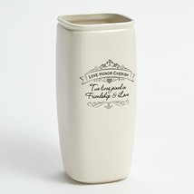 "Enesco Insignia Love Honor Cherish Vase, 10.125"""