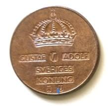 Sweden 2 ore Coin km821 1967 - $0.50
