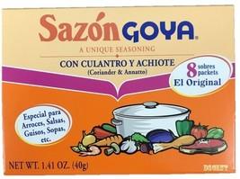 Goya Sazon Con Culantro Y Achiote - Seasoning Coriander & Annatto 1.41 oz - $5.63