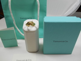 Tiffany & Co.18K Gold Signature X Kiss Cross Rare Wide Band Ring Sz 7.5 EUC - $872.99