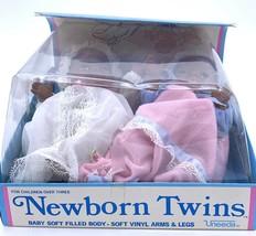 "Vintage Nib 8"" Uneeda Vinyl Doll Collection African American Newborn Twins - $42.93"