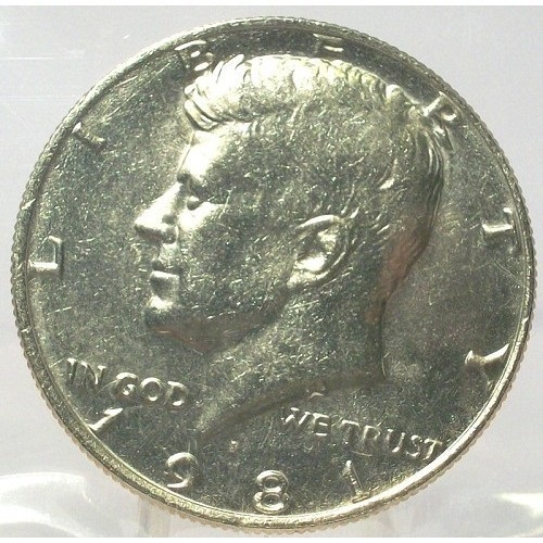 Primary image for 1981-P Kennedy Half Dollar BU In the Cello #0675