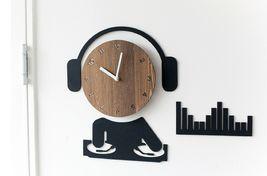 Moro Design DJ Wall Clock Non Ticking Silent Quartz Decorative Modern Clock Deco image 3